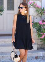 siyah-astarli-piliseli-elbise