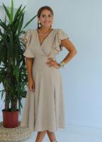 camel-volan-detay-midi-elbise