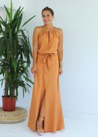 camel-asimetrik-cizgili-maxi-elbise