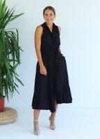siyah-asimetrik-kesim-gomlek-elbise