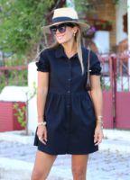 siyah-kolu-buzgu-detay-gomlek-elbise