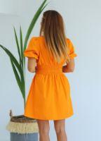 turuncu-beli-lastikli-kruvaze-elbise