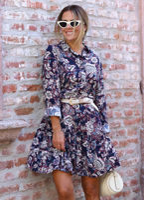 lacivert-floral-desen-volanli-gomlek-elbise